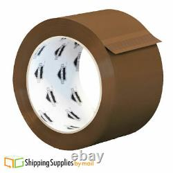 36 Rolls Brown Tan Hotmelt Packaging Packing Tape 2.44 MIL Thick 2 X 110 Yards