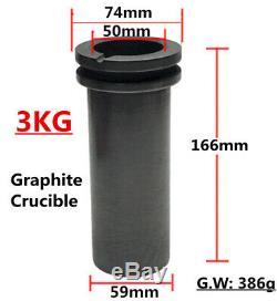 3kg Numérique Four De Fusion Or Argent Smelter 110v Creuset Graphite 1150 Chaud
