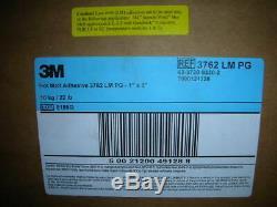 3m 3762 LM Pg, Hot Melt Adhesive Ambre Clair, 1 In X 3 In, 22 Lb / Cas Nouveau