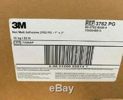 3m 3762 Pg Hot Melt Adhesive Bâtons De Colle 1 X 3 Pouces Tan / Ambre Lot De 24 Boîtes