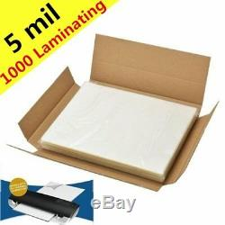 5 Lettre MIL Laminating Pouches 1000 Paquet Thermofusibles 9 X 11,5 Fournitures Laminage