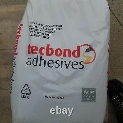 (6) 44 Lb Techbond Hot Glue Melt Pellets Sacs Neuf! Lire Desc Voir Pic USA Made