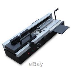 A4 De Bureau Livre Reliure Machine Colle Chaude Livre Papier Binder 1200w Stock USA