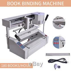 A4 Livre Reliure Machine Melt Glue Livre Papier Binder Puncher USA Hot Stock