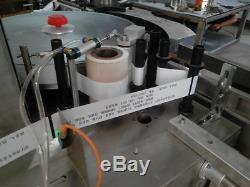 Colle À Chaud Automatique De Fusion De Verre En Plastique Bouteille D'eau Etiqueteuse
