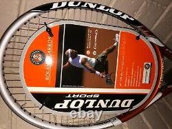 Dunlop M-fil 300 Hotmelt Roland Garros Ltd Sortie-très Rare-grip3 + Couverture