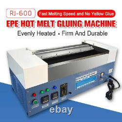 Epe Hot Melt Glue Machine Glue Revêtement Glue Dispenser Uniformément Rapide 23.6in Largeur