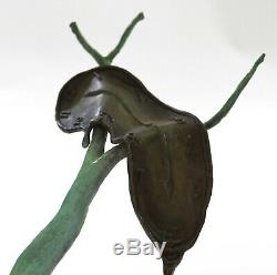 Hand Made Dali Melting Horloge Hommage Bronze Sculpture Résumé Hot Cast Figure