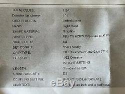 Mint Titleist Ts2 15 ° Hzrdus Fumée 6,5 X Stiff Thermofusibles D3 Département Tour