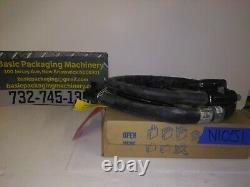 Non Utilisé Nordson 6' Hot Melt Adhésif Laver Hose Model# 276741, Rectangle Plug