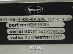 Nordson 1061583 Heater Manifold 240v 1200 Watt Avec 6 Modules Sa14b Hot Melt Gun
