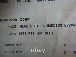 Nordson 272840d Tuyau De Colle À Chaud À Chaud, 8 Pieds, # 12321j Nib
