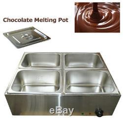 Nouveau 4 Casseroles Chocolate Melting Pot Numérique Chocolat Affichage Four De Fusion 110v