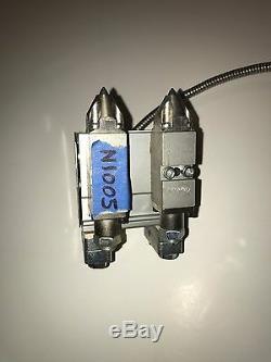 Nouveau Double Zéro Nordson Cavity Module Hot Melt Pistolet À Colle. Avec 2-0.012 Dia. Nozzles