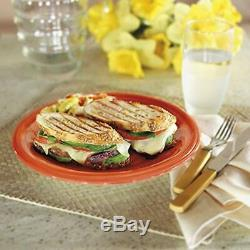 Panini Maker Sandwich Électrique Grill Hot Toasty Facile Repas Fondre Le Fromage Style Café