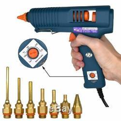 Pistolet À Colle Contrôle De La Température 150w Thermofusibles Avec 11mm Bâton Cuivre Buse Accueil