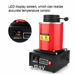 Professionnel 2kg Électrique Four De Fusion Or Argent Cuivre Smelter 110v Us Hot