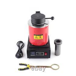 Professionnel 2kg Électrique Melting Furnace Or Argent Fonderie De Cuivre 110v Us Chaud
