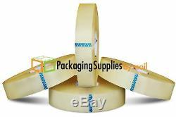 Ruban D'emballage Hotmelt Clair, 2 X 1000 Yds, Longueur De Machine De 2,5 Mil, 18 Rouleaux