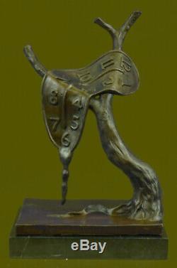 Salvador Dali Fusion Horloge Hommage Bronze Sculpture Hot Cast Art Abstrait Affaire