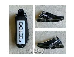 Super Chaud Authentique Dolce & Gabbana Sorrento Noir / Blanc Melt Sneakers Sz 42 Eur 9 Us